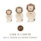 Décoration personnalisée en bois lion thème savane