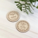 Magnet personnalisé en bois save the date ou cadeaux d'invités