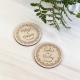 Magnet mariage personnalisé en bois couronne printanière