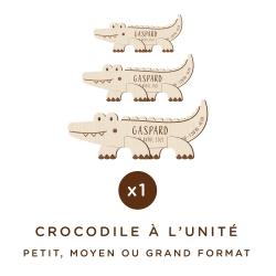 Crocodile en bois à personnaliser chambre enfant cadeau original