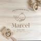 Boîte naissance en bois personnalisée, coffret naissance thème marin baleine