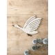 Oie en bois décoration murale poétique et originale fabrication française