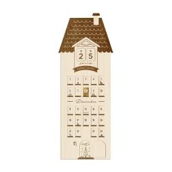 Calendrier de l'Avent en bois, maison de campagne