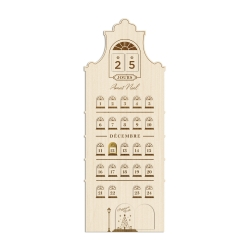 Calendrier de l'Avent maison hollandaise, décoration de Noël
