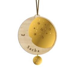 Boule de Noël personnalisée douce nuit lune