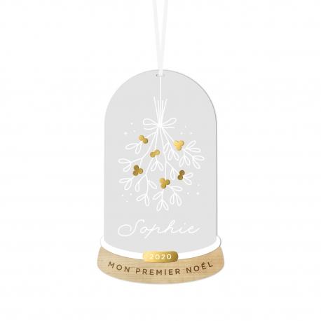 Boule de Noël personnalisée bouquet de gui