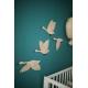 Décoration murale en bois chambre d'enfant oies