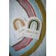Pancarte personnalisée arc-en-ciel décoration chambre enfant