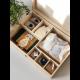 Coffret de naissance en bois avec compartiments