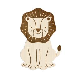 Décoration murale originale lion en bois