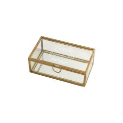 Boîte en verre personnalisée