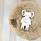 Faire-part éléphant en bois à personnaliser