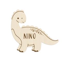 Enseigne en bois personnalisée modèle dinosaure