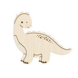 Enseigne murale en bois dinosaure