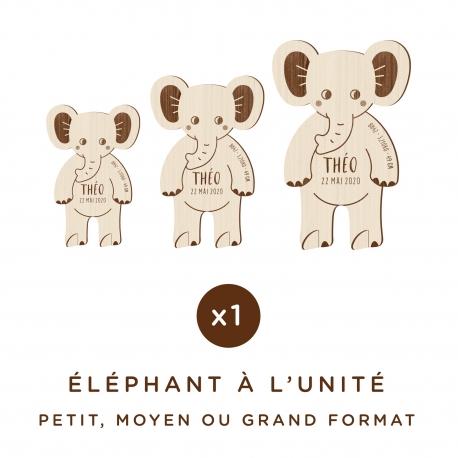 Décoration personnalisée en bois éléphant thème safari