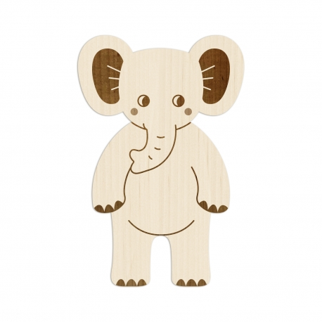 Éléphant en bois, décoration originale chambre enfant