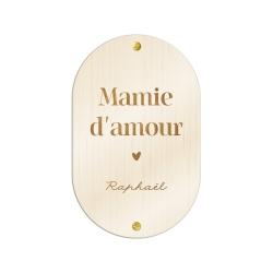 Pancarte en bois personnalisée mots d'enfant, cadeau grand-ère