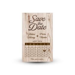 Personnalisez un save the date rustique pour votre mariage