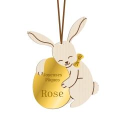 Décoration de Pâques personnalisée lapin et son oeuf