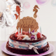 Cake topper coquillage en bois anniversaire thème sirène océan