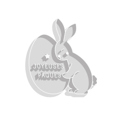Emporte-pièce original Pâques lapin et son oeuf