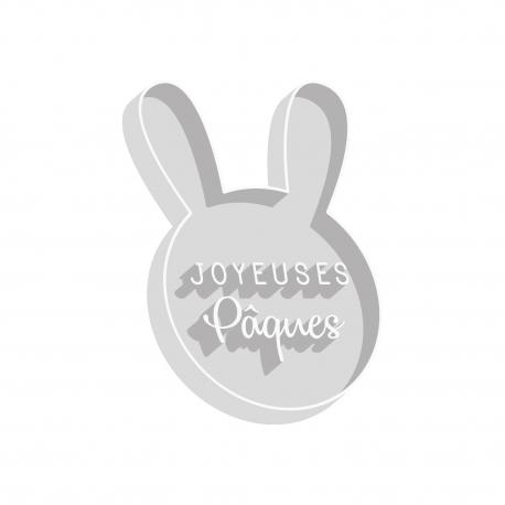 Emporte-pièce tête de lapin Joyeuses Pâques