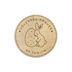 Dessous de verre joyeuses Pâques lapin et oeuf