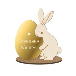 Décoration originale lapins de Pâques