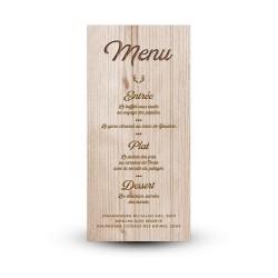 Carte de menu à personnaliser pour votre mariage champêtre