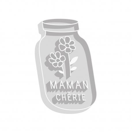 Emporte-pièce mason jar Maman chérie
