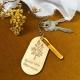 Porte-clés en bois personnalisé grand-mère