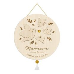 Médaille maman oiseau