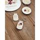 Porte-clef personnalisé en bois cadeau maman en or