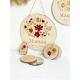 Cadeau fête des mères personnalisé, porte-clés mason jar