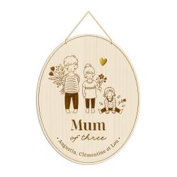 Médaille Mum of three, cadeau original fête des mères
