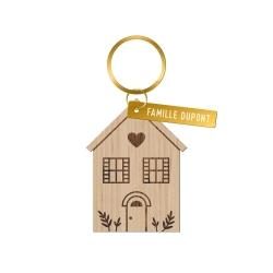 Porte-clé personnalisé maison de famille