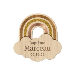 Magnet arc-en-ciel personnalisé modèle baptême cadeau d'invités