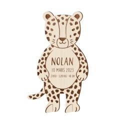 Faire-part naissance original jungle léopard