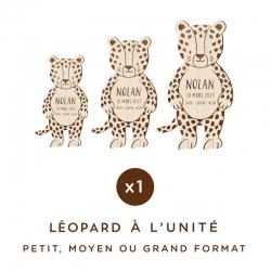 Décoration originale personnalisée léopard en bois