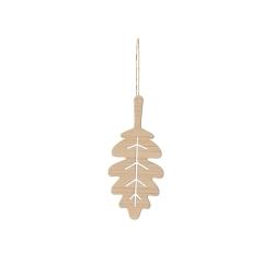 Feuille de chêne en bois, petite décoration originale