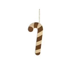 Suspension de Noël en bois, sucre d'orge