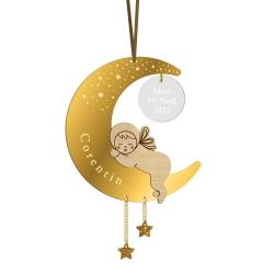 Boule de Noël personnalisée clair de lune bébé