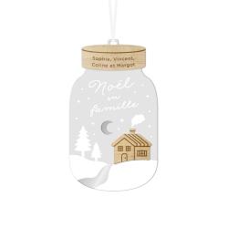 Boule de Noël mason jar personnalisée prénoms famille