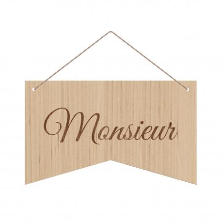 Mariage pancarte en bois décoration de chaise Monsieur