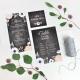 Carte pour plan de table mariage fleuri anémone