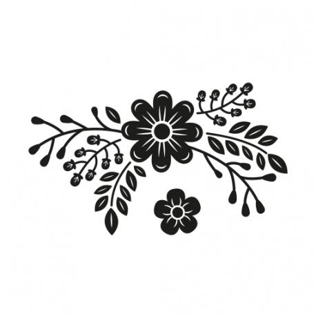 Tampon scrapbooking fleurs champêtre décoration enveloppe invitation