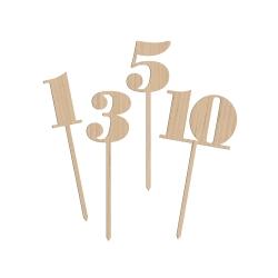 Numéros de table en bois décoration table mariage