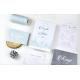 Invitation mariage personnalisée thème hivernal bleu glacé