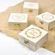 Boîte à alliances en bois personnalisée mariage champêtre lauriers