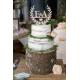 Nude cake et cake topper pour mariage champêtre